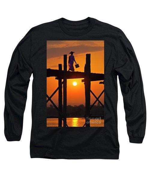 Long Sleeve T-Shirt featuring the photograph Burma_d807 by Craig Lovell