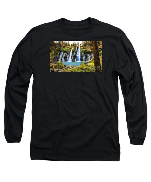 Long Sleeve T-Shirt featuring the photograph Burney Falls by Jason Abando