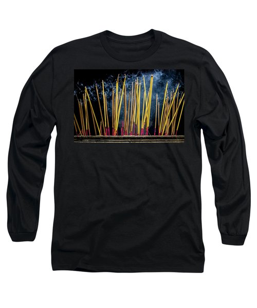 Burning Joss Sticks Long Sleeve T-Shirt