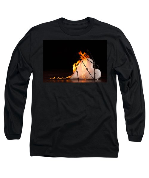 Long Sleeve T-Shirt featuring the photograph Burning Love by Yvette Van Teeffelen