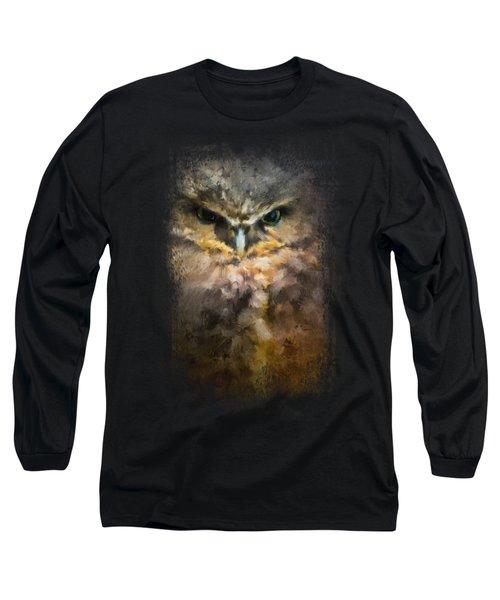 Burrowing Owl Long Sleeve T-Shirt by Jai Johnson