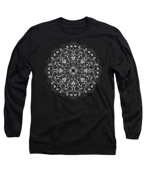 Butterflies And Grapes Inverted Long Sleeve T-Shirt