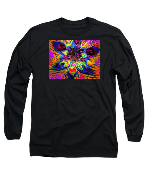 Butterfly Abstract Long Sleeve T-Shirt by Maciek Froncisz