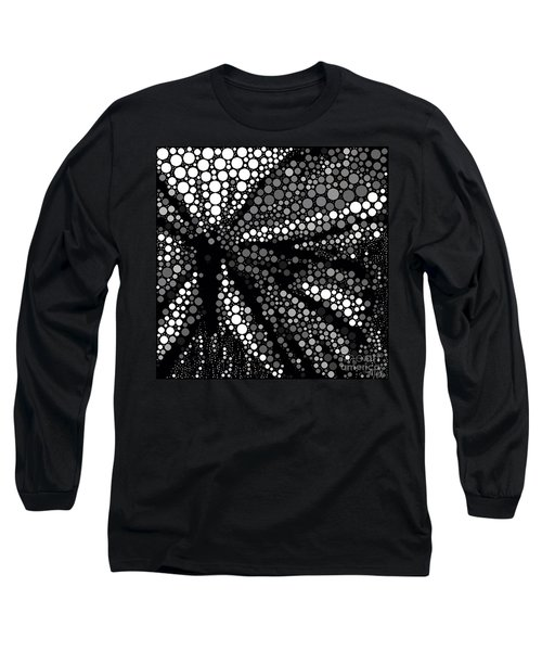 Butterfly Black And White Abstract Long Sleeve T-Shirt