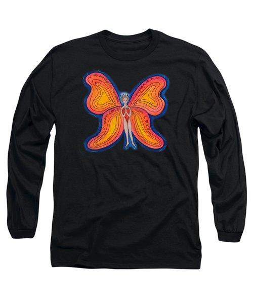 Butterfly Mantra Long Sleeve T-Shirt by Deborha Kerr