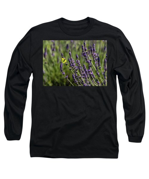 Butterfly N Lavender Long Sleeve T-Shirt