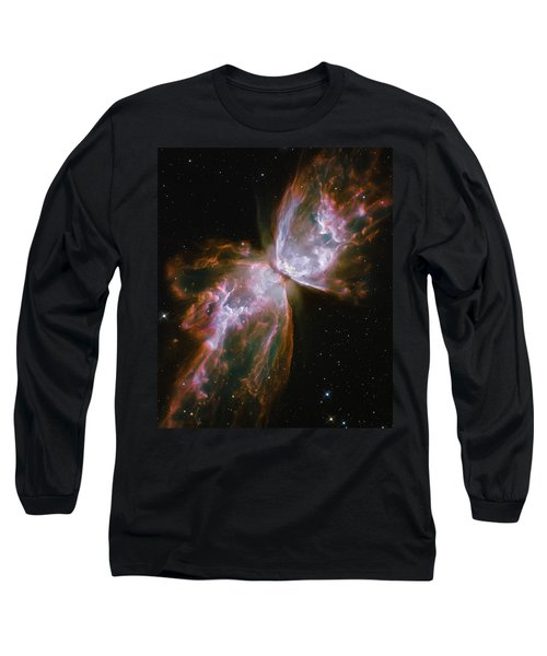 Butterfly Nebula Long Sleeve T-Shirt by Jennifer Rondinelli Reilly - Fine Art Photography