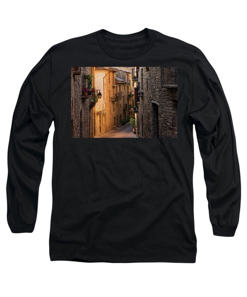 By The Town Of Ainsa In The Province Of Huesca Long Sleeve T-Shirt