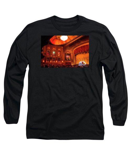 Byrd Theatre Organist II Long Sleeve T-Shirt by Jean Haynes