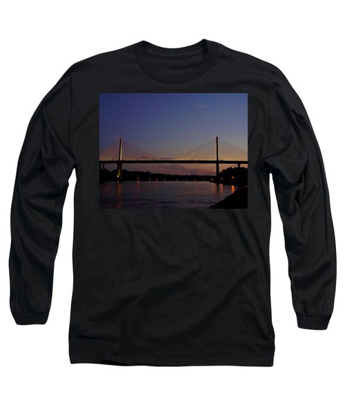C And D Canal Bridge Long Sleeve T-Shirt by Ed Sweeney