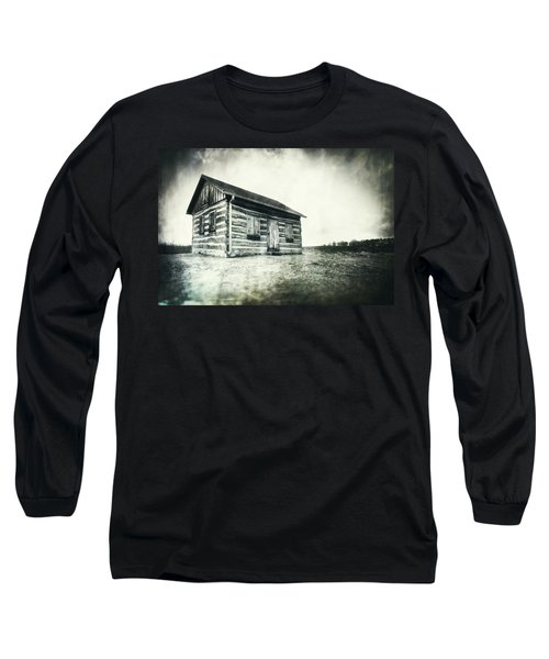 Cabin Near Paradise Springs - Kettle Moraine State Forest Long Sleeve T-Shirt by Jennifer Rondinelli Reilly - Fine Art Photography