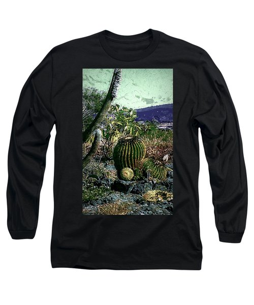 Long Sleeve T-Shirt featuring the photograph Cacti by Lori Seaman