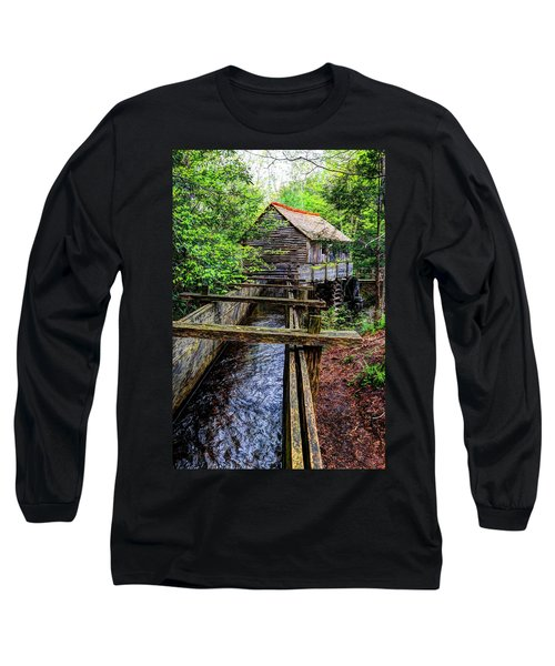 Cades Cove Grist Mill In The Great Smoky Mountains National Park  Long Sleeve T-Shirt