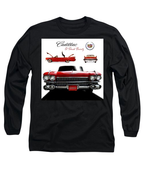 Long Sleeve T-Shirt featuring the photograph Cadillac 1959 by Gina Dsgn