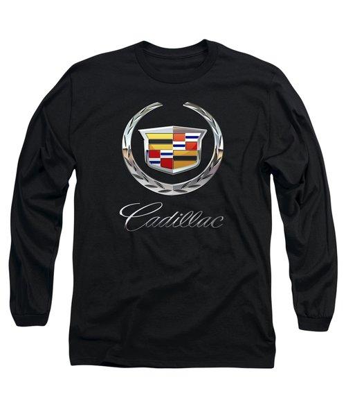 Cadillac - 3d Badge On Black Long Sleeve T-Shirt