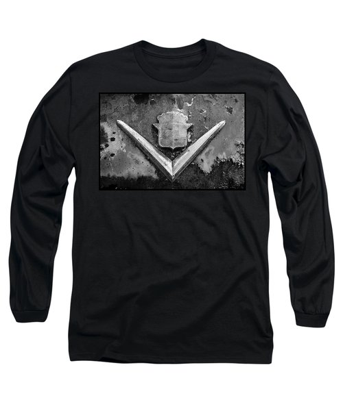 Cadillac Emblem On Rusted Hood Long Sleeve T-Shirt