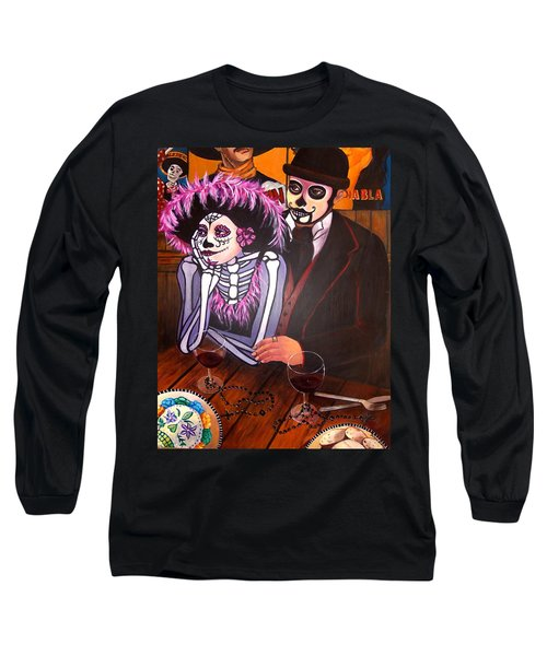Cafe- Day Of The Dead Long Sleeve T-Shirt