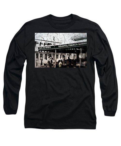 Cafe Du Monde Long Sleeve T-Shirt by Scott Pellegrin
