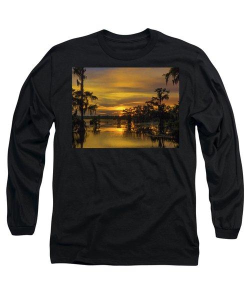 Cajun Vikings Long Sleeve T-Shirt by Kimo Fernandez