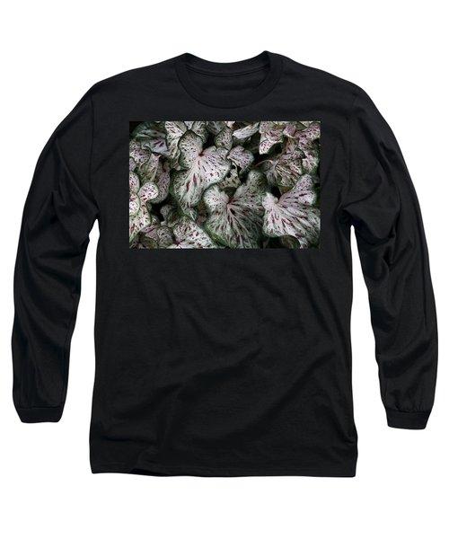 Caladium Leaves Long Sleeve T-Shirt