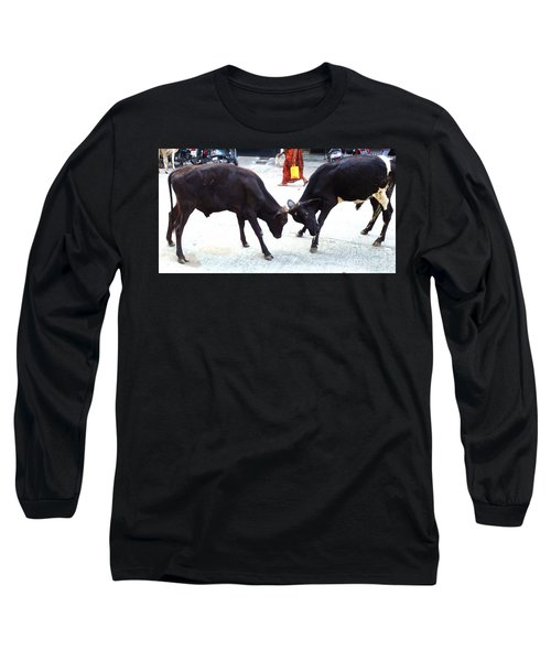 Calf Fighting Long Sleeve T-Shirt