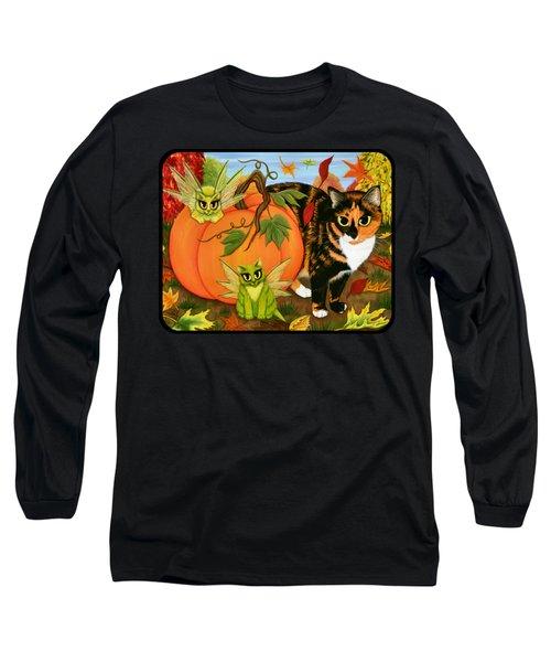 Calico's Mystical Pumpkin Long Sleeve T-Shirt