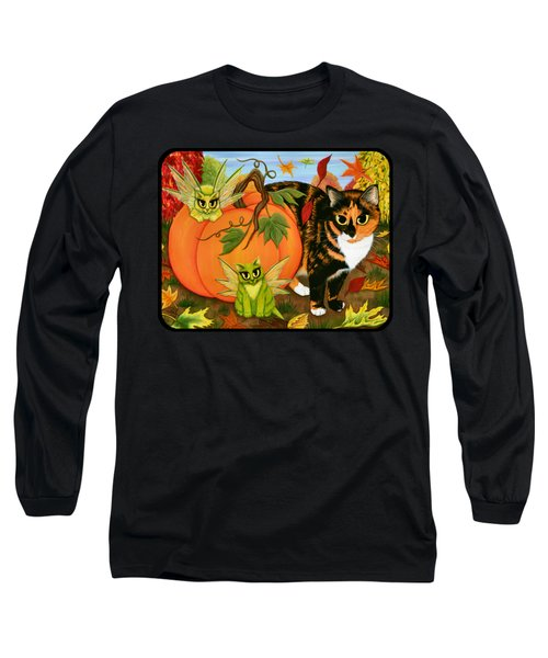 Calico's Mystical Pumpkin Long Sleeve T-Shirt