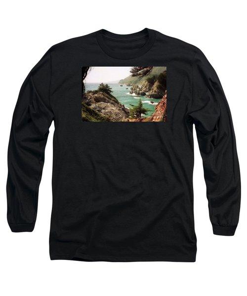 California Highway 1 Coast Long Sleeve T-Shirt by Ted Pollard