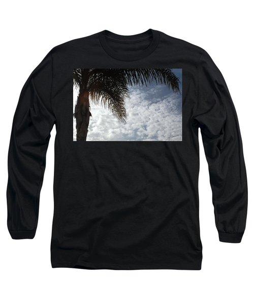 California Palm Tree Half View Long Sleeve T-Shirt