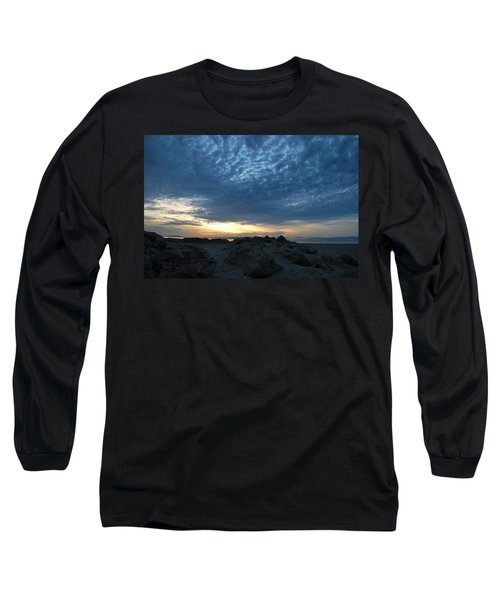 California Rocky Beach Sunset  Long Sleeve T-Shirt