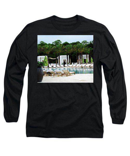 Caliza Pool In Alys Beach Long Sleeve T-Shirt