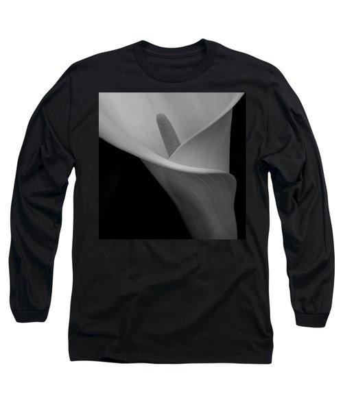 Calla Blossom Tight Crop Long Sleeve T-Shirt
