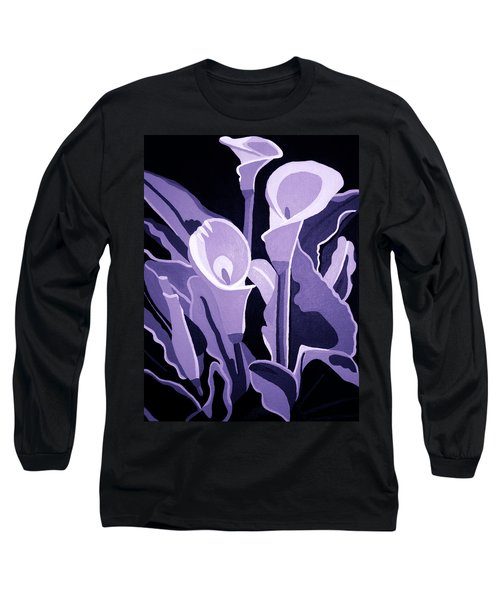 Calla Lillies Lavender Long Sleeve T-Shirt