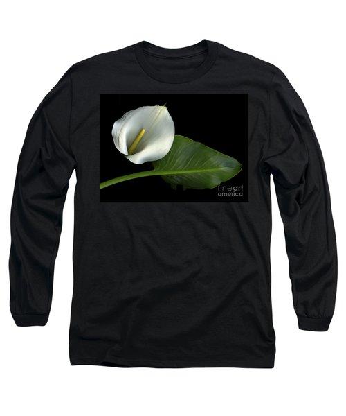 Calla Lily Long Sleeve T-Shirt by Christian Slanec