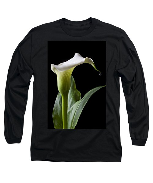 Calla Lily With Drip Long Sleeve T-Shirt
