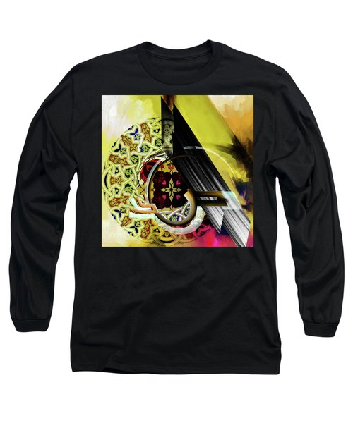 Long Sleeve T-Shirt featuring the painting Calligraphy 103 2 1 by Mawra Tahreem