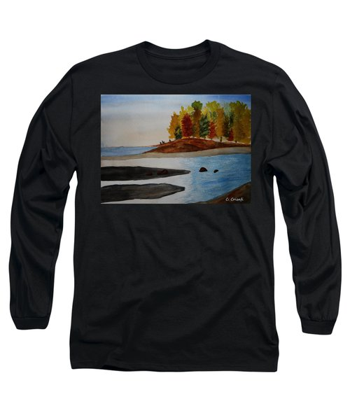 Calm Tide Long Sleeve T-Shirt by Carol Crisafi