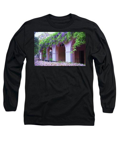 Long Sleeve T-Shirt featuring the photograph Caltech Wisteria by Ram Vasudev