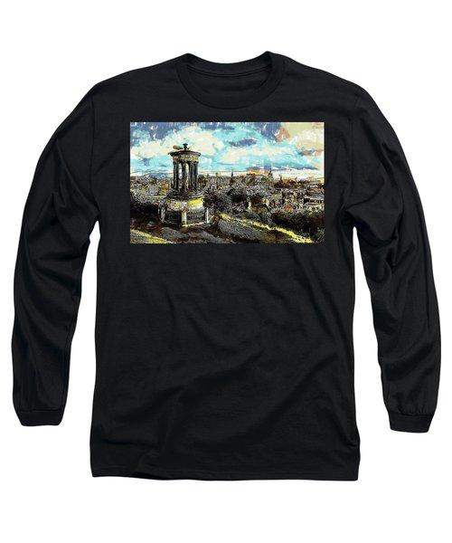 Calton Hill Edinburgh Long Sleeve T-Shirt