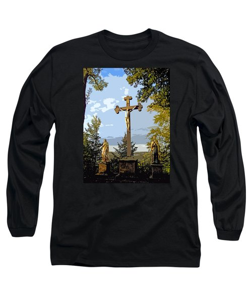 Long Sleeve T-Shirt featuring the photograph Calvary Group - Parkstein by Juergen Weiss