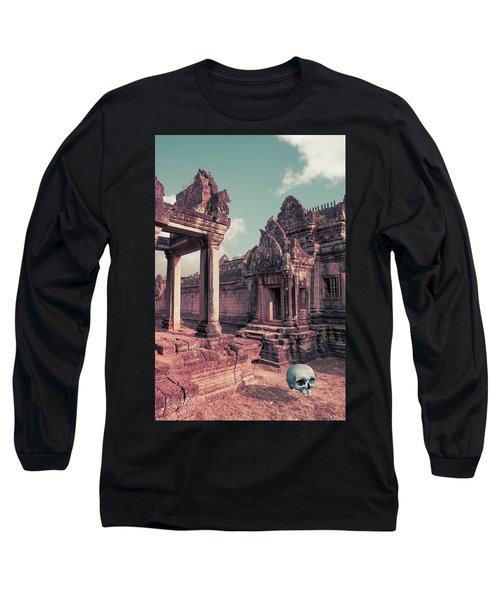 Long Sleeve T-Shirt featuring the photograph Cambodian Blue by Joseph Westrupp