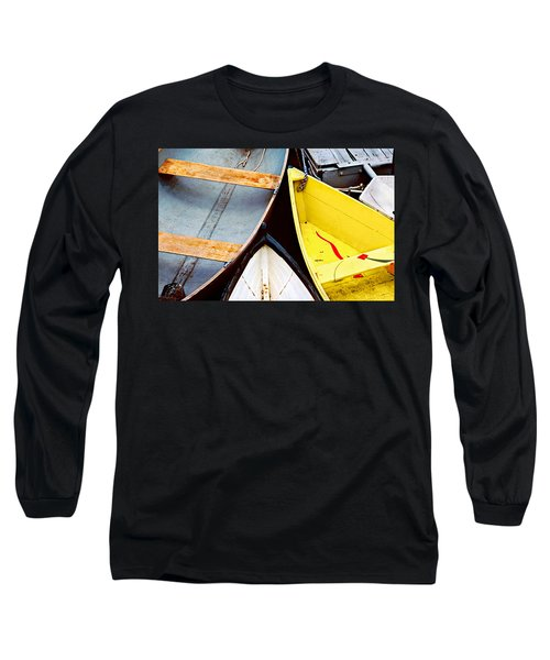 Long Sleeve T-Shirt featuring the photograph Camden Dories Photo by Peter J Sucy