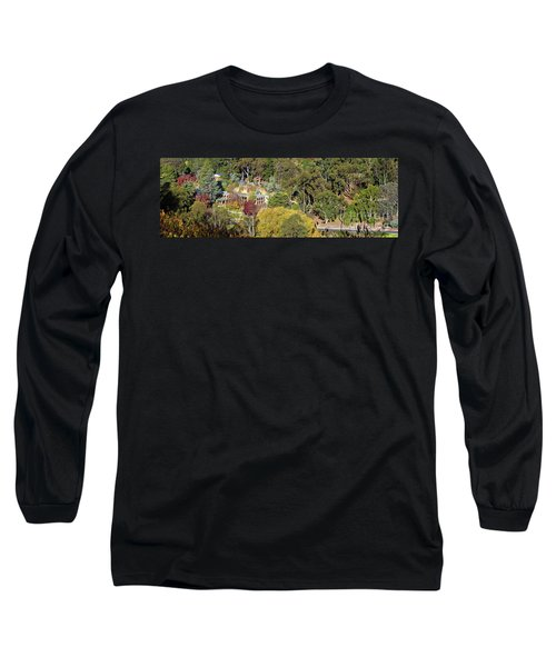 Long Sleeve T-Shirt featuring the photograph Camelot Castle, Basket Range by Bill Robinson