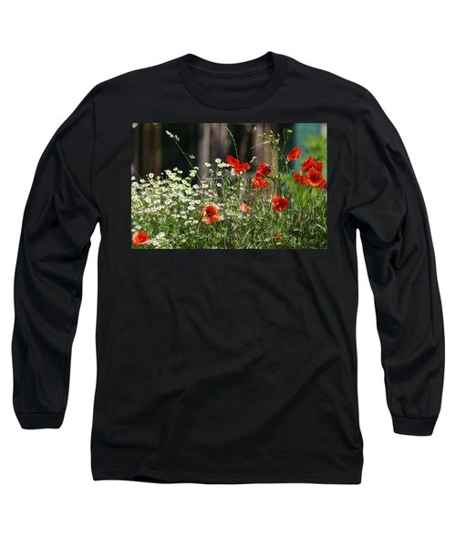 Camille And Poppies Long Sleeve T-Shirt by Rainer Kersten