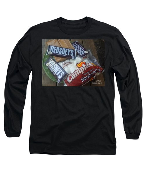 Campfire Smores - Outdoor Camping Long Sleeve T-Shirt