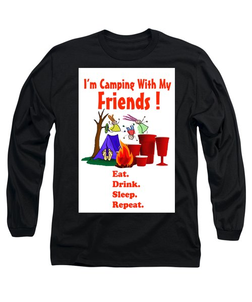 Camping T Shirt Long Sleeve T-Shirt