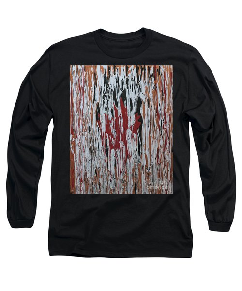 Long Sleeve T-Shirt featuring the painting Canada Cries by Cathy Beharriell