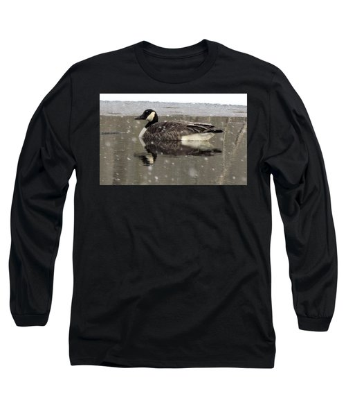 Canadian Goose In Michigan Long Sleeve T-Shirt