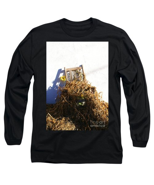 Cane Back Chair And Sunflower Long Sleeve T-Shirt