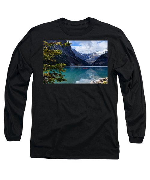 Canoe On Lake Louise Long Sleeve T-Shirt